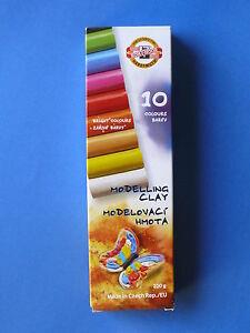 Modelliermasse von KOH-I-NOOR   200 g Packung mit 10 verschiedenen Farben  NEU