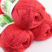 Sale Lot 3 ballsx50g Super Soft Bamboo Cotton Baby Hand Knitting Crochet Yarn 33