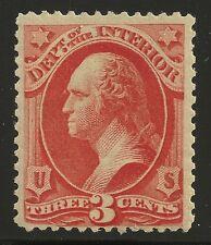 US Scott #O17, Single 1873 Official 3c FVF MNH