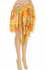 Polyester Floral Plus Size Asymmetrical Skirts for Women