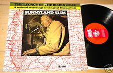 SUNNYLAND SLIM ~ THE LEGACY OF THE BLUES ~UK VINYL SONET LP 1974 GREAT CONDITION