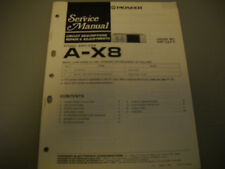 PIONEER A-X8 STEREO AMPLIFIER, ORIGNAL PAPER MANUAL