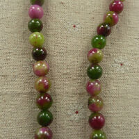 free ship 200pcs green purple Natural Jade Spacer Loose beads 8mm ZH1309