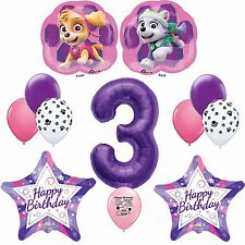 Paw Patrol Party Supplies Skye Pink Happy 3rd Birthday Balloon Decoration Kit