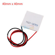 12V TEC1-12709 100W Thermoelectric Cooler Peltier Plate 40mm x 40mm Heatsink CE