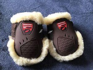 Pony Brown Zandona Carbon Air Flex Zone Classic Sensitive Wool  Fetlock Boots