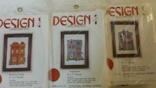 3 DESIGN 1 Counted Cross Stitch Kits Wedding Cottage Gingerbread Victorian House