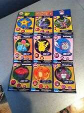 Pokemon The First Movie Cards Burger King Uncut Sheet 9 cards 1999 Mint