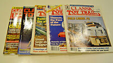 FIVE (5) ISSUES OF CLASSIC TOY TRAINS MAGAZINE 1996,1998,1995,1994,2011