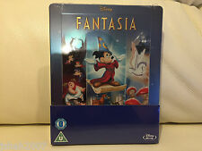 DISNEY FANTASIA STEELBOOK BLU RAY ZAVVI EXCLUSIVE **NEW & SEALED**