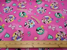 1 yard Disney Minnie and Daisy Friendship Never Goes Out of Style Fabric