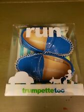 Trumpettetoo Infant Baby BLUE Moccasin~Shoes~Size 6-12 M