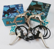 LIZARD ALLOY BMX BRAKES SET Vintage Old School Bicycle Bike Skyway 80s TITANIUM