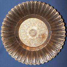 Vintage Russian Orante Floral Metal Bowl