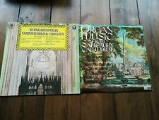 Cathedral Organ Music from Winchester and Salisbury Cathedral Vinyl LPs.