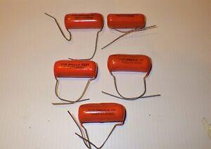 5 pieces .068uF Sprague 800V DC  8339 capacitor  for Valve Amplifier