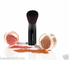 New Cosmetica Manicare Face Retractable Powder Brush Natural Bristle travel Pack