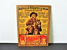 BUFFALO BILL'S WILD WEST AND PIONEER EXHIBITION- Color Artwork Vintage Poster.