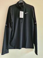 Nike Dri-FIT Men's 1/2-Zip Running Top. Black. Size Medium