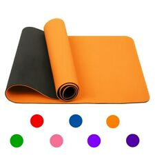 72'x24'/6mm Yoga Mat Exercise Gym Pad Non Slip With Carry Straps Pilates
