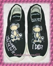 Original Bobby Jack Monkey Slip on Tennis Shoes Girls Size 11 NWT!