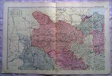 Yorkshire (Nord Ovest), anni 1890 Gate Mappa PIEGA