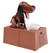 Hungry Dog Eating Coin Piggy Bank Cash Money Saving Box Container Fun Toy #1