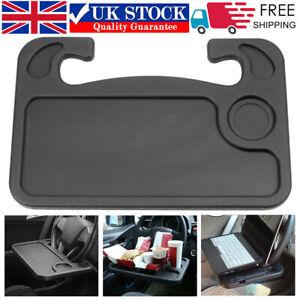Car Steering Wheel Tray Laptop Desk Mount Table Eating Food Stand Drink Holders