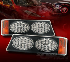 FOR 03-07 SILVERADO AVALANCHE LED LOOK BLACK CORNER PARKING SIGNAL LAMPS LIGHTS