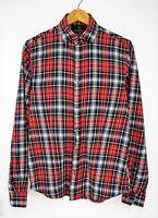 SCOTCH & SODA Long Sleeve Button Down Collar Plaid Flannel Men's Shirt size M