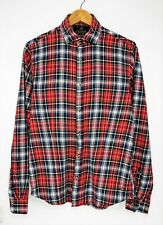 SCOTCH & SODA Long Sleeve Button Down Collar Plaid Flannel Men's Shirt size M