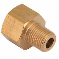 """BSP-NPT Adapter 1/8"""" Male BSPT to 1/4"""" Female NPT Brass Pipe Fitting"""
