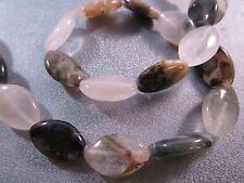 Rustic Quartz Oval Beads 20pcs