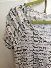 Anthropologie Brand Splendid Horse V Neck Tee Nwt $78 Xs Runs Big
