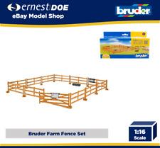New Bruder Toys Bworld Brown Pasture Fence - Bruder 62604
