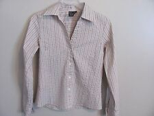 Ladies Rafaella Striped Long Sleeve Blouse Size 6