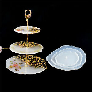 3Tiers Cake/Fruit Dish Coaster Epoxy Resin Casting Silicone Mold Stand Agate DIY