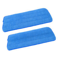 2 Pcs of Microfiber Wet&Dry Mop Pads for Sweeper, High Water Absorption Blue