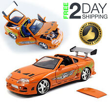 Fast & Furious Brian Toyota Supra Collectible Toy Vehicle Car 1:24 Scale Metal
