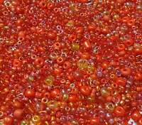 100g Rocailles Perlen Glas Rot tönen Grösse 2/3/4 mm Gemischt Schmuck Z10#100g