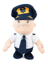 "Daron Walking Pilot Doll - Toy 9"" Electric Plush Doll in Airline Pilot Uniform"