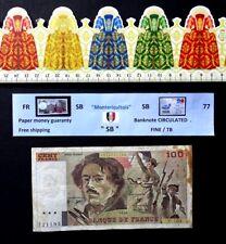 (FR), Billet de banque, 100 Francs, Eugéne delacroix, Date : 1990 .