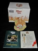 Lilliput Lane TWO HOOTS, English Collection, w/Box, Deed, & Signed