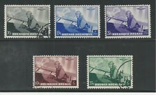BELGIUM # B209-213 Used KING LEOPOLD, MILITARY PLANE (001)