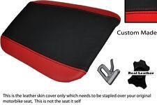 Rojo Y Negro Custom encaja Cagiva Mito 125 95-07 Trasera de piel cubierta de asiento