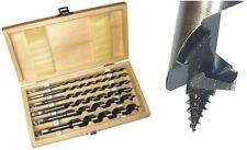 Holzbohrer-Set, 6-tlg; 230 mm lang; (6+8+10+12+16+20mm Ø) Balkenbohrer Bohrer