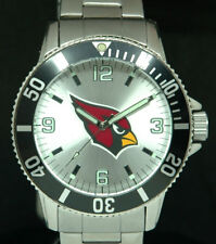 NFL ARIZONA CARDINALS SPARO DIVER MENS 46mm WATCH Submarine S.STEEL NWT NEW BATT