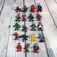 Marvel DC Super Heroes Villains Action Figure Lot of 19 Pieces / Spiderman Hulk