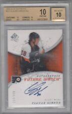 08-09 UD SP Authentic Claude Giroux Autograph Rookie RC SP /999 BGS 10 PRISTINE
