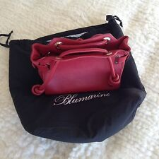Blumarine Red Calf Leather Purse/ Tote, Made In Italy
